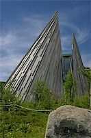 The Sami Parliament of Norway (Sámediggi) is the representative body for people of Sami heritage in Norway. The peaked structure of the Plenary Assembly Hall resembles the tipis the Sami used as a nomadic culture Stock Photo - Royalty-Freenull, Code: 400-05301058