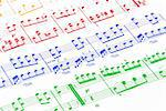 fragment of music note sheet Stock Photo - Royalty-Free, Artist: simply                        , Code: 400-05301993