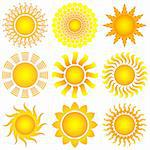 bright symbolic vector sun set Stock Photo - Royalty-Free, Artist: DLeonis                       , Code: 400-05302146
