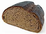 half loaf of rye bread Stock Photo - Royalty-Free, Artist: DLeonis                       , Code: 400-05303282