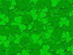 Happy St Patrick's Day Green Shamrock Leaves Background Color