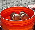 a closeup view of an orange ball bucket Stock Photo - Royalty-Free, Artist: Northwoodsphoto               , Code: 400-05305667