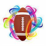 American football ball as the concept of an international tournament