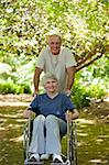 Senior couple in the wood Stock Photo - Royalty-Free, Artist: 4774344sean                   , Code: 400-05315201