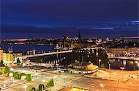 Night scene of the Stockholm City at top of Katarina elevator Stock Photo - Royalty-Freenull, Code: 400-05316956