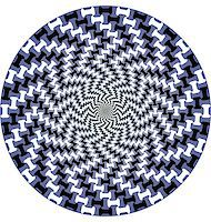 Abstract design with geometric shapes optical illusion illustration Stock Photo - Royalty-Freenull, Code: 400-05318326