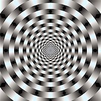 Abstract design with geometric shapes optical illusion illustration Stock Photo - Royalty-Freenull, Code: 400-05318328