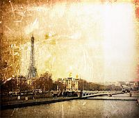 beautiful Parisian streets - The Eiffel Tower   Stock Photo - Royalty-Freenull, Code: 400-05318559