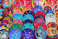 clay ceramic plates from Mexico colorful traditional handcraft Stock Photo - Royalty-Freenull, Code: 400-05318698