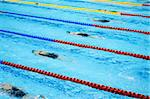 swimmers swimming in a pool Stock Photo - Royalty-Free, Artist: tarczas                       , Code: 400-05319686