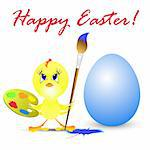 easter holiday illustration with chicken, isolated on white background Stock Photo - Royalty-Free, Artist: aarrows                       , Code: 400-05319996