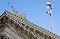 flag at half mast - The side of the state calitol building in sacramento, california Stock Photo - Royalty-Freenull, Code: 400-05320882