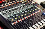 mixer buttons equipment in audio recording studio Stock Photo - Royalty-Free, Artist: vlaru                         , Code: 400-05322189