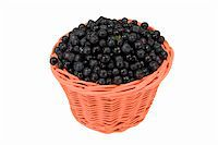 Basket with of ripe blueberry isolated on white bacground Stock Photo - Royalty-Freenull, Code: 400-05322710