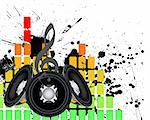 Musical grunge background. Vector illustration. Stock Photo - Royalty-Free, Artist: angelp                        , Code: 400-05323395