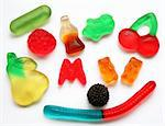 Colorful  different Jelly Candy Stock Photo - Royalty-Free, Artist: oxanatravel                   , Code: 400-05323509