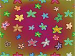 seamless flowers texture, abstract pattern; vector art illustration Stock Photo - Royalty-Free, Artist: robertosch                    , Code: 400-05323928