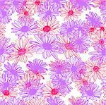 Vector flower seamless background Stock Photo - Royalty-Free, Artist: aarrows                       , Code: 400-05324868