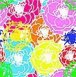 Vector flower seamless background Stock Photo - Royalty-Free, Artist: aarrows                       , Code: 400-05324872