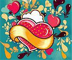 Fun cartoon illustration with heart Stock Photo - Royalty-Free, Artist: marinakim                     , Code: 400-05325536