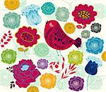 Spring floral background Stock Photo - Royalty-Free, Artist: marinakim                     , Code: 400-05325843