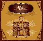 Retro design cover menu Stock Photo - Royalty-Free, Artist: marinakim                     , Code: 400-05325883