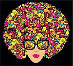 Bright multi-coloured fashion illustration. Print for T-shirt Stock Photo - Royalty-Free, Artist: marinakim                     , Code: 400-05326018