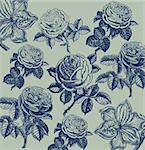 Classical wall-paper with a flower pattern. Fragment Stock Photo - Royalty-Free, Artist: marinakim                     , Code: 400-05326025