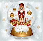 Christmas snowglobe with Nutcracker Stock Photo - Royalty-Free, Artist: marinakim                     , Code: 400-05326755