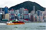 ferry  in hong kong Stock Photo - Royalty-Free, Artist: cozyta                        , Code: 400-05327432