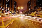 Modern Urban City with Freeway Traffic at Night, hong kong Stock Photo - Royalty-Free, Artist: cozyta                        , Code: 400-05327659