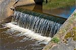 small waterfall in a drainage ditch in the netherlands Stock Photo - Royalty-Free, Artist: hansenn                       , Code: 400-05330099
