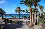Beautiful resort with a brigh blue beach in Lanzarote, Spain Stock Photo - Royalty-Free, Artist: tommyandone                   , Code: 400-05331739