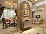 Interior fashionable living-room rendering Stock Photo - Royalty-Free, Artist: baojia1998                    , Code: 400-05332034