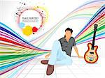 abstract colorful background with musical boy vector illustration Stock Photo - Royalty-Free, Artist: pathakdesigner                , Code: 400-05332275