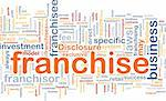 Background concept wordcloud illustration of franchise Stock Photo - Royalty-Free, Artist: kgtoh                         , Code: 400-05332335