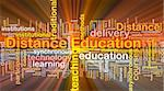 Background concept wordcloud illustration of distance education glowing light Stock Photo - Royalty-Free, Artist: kgtoh, Code: 400-05332337