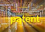 Background concept wordcloud illustration of patent glowing light Stock Photo - Royalty-Free, Artist: kgtoh, Code: 400-05332356