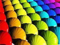 rolffimages (artist) - Umbrellas in rainbow hues Stock Photo - Royalty-Freenull, Code: 400-05333840