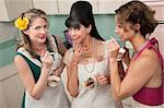 Three middle-aged woman smoke in a retro-style tea party Stock Photo - Royalty-Free, Artist: creatista                     , Code: 400-05334595