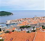 High angle view of the Dalmatian coast from the city of Rovinj Croatia Stock Photo - Royalty-Free, Artist: macsim                        , Code: 400-05334761