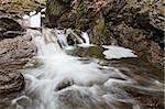 a small waterfall on a mountain creek Stock Photo - Royalty-Free, Artist: porojnicu                     , Code: 400-05337444
