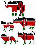 Big Five Kenya Stock Photo - Royalty-Free, Artist: lantapix, Code: 400-05337653
