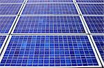 Panels of solar collection cells fill the frame horizontal Stock Photo - Royalty-Free, Artist: sgoodwin4813                  , Code: 400-05338051