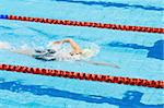 swimmer swimming in a pool Stock Photo - Royalty-Free, Artist: tarczas                       , Code: 400-05338278