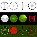 Vector Target Crosshairs Stock Photo - Royalty-Free, Artist: solarseven                    , Code: 400-05338748