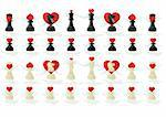 Abstract chess pieces. Illustration on a white background. Stock Photo - Royalty-Free, Artist: guarding                      , Code: 400-05339164