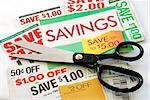 Cut up some coupons to save money Stock Photo - Royalty-Free, Artist: johnkwan                      , Code: 400-05339545