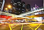 traffic in city at night Stock Photo - Royalty-Free, Artist: leungchopan                   , Code: 400-05342038