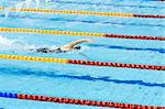 swimmer swimming in a pool Stock Photo - Royalty-Free, Artist: tarczas                       , Code: 400-05342739